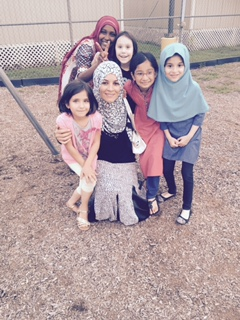 Sister Zohra and her students were very excited about being featured on Inside American Mosques. This mosque hosts weekday Islamic classes for children of all ages. (Maryam Islamic Center)