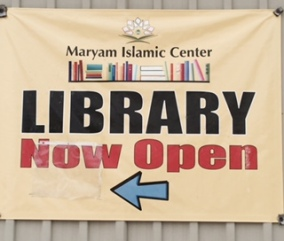 Islam encourages the seeking of knowledge - at any level. This mosque has a library on site for young students and attendees to borrow Islamic literature, stories, and books from. Just another reason mosques are awesome! (Maryam Islamic Center)